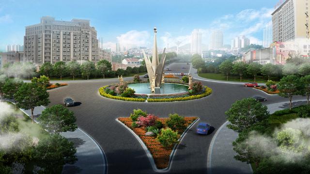 永州市零陵区街旁绿地小游园设计